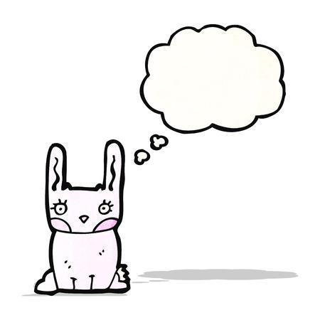 pink rabbit: pink rabbit cartoon