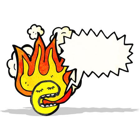 flaming: flaming emoticon face cartoon