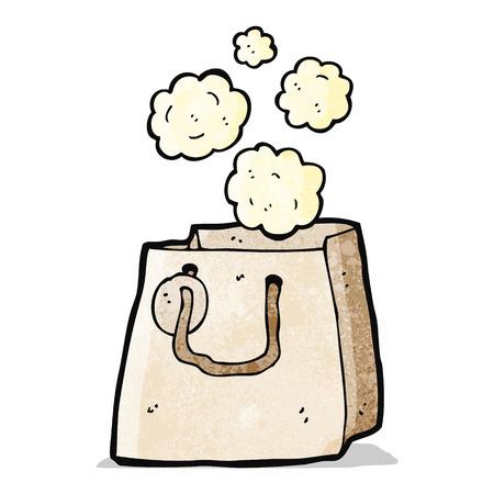 bag cartoon: paper bag cartoon Illustration