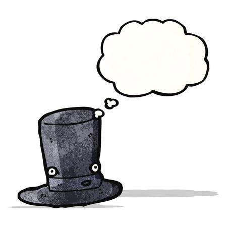 top hat: cartoon top hat