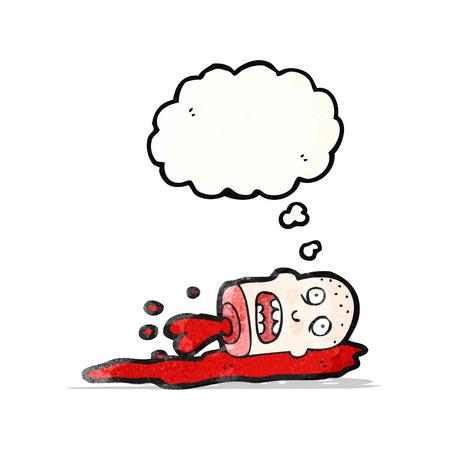 severed: severed head cartoon