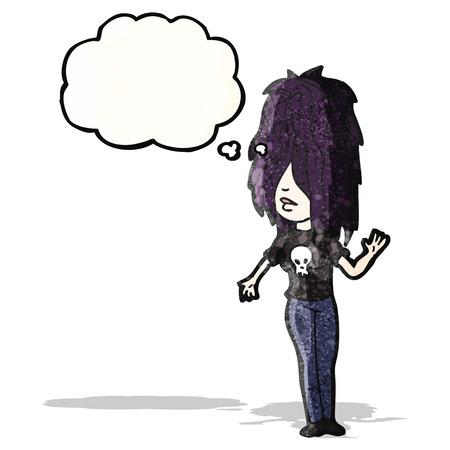 goth girl: cartoon goth girl