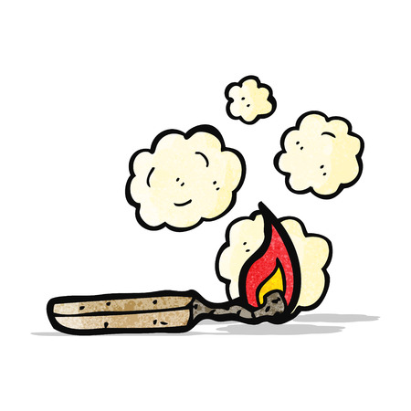 struck: cartoon match Illustration