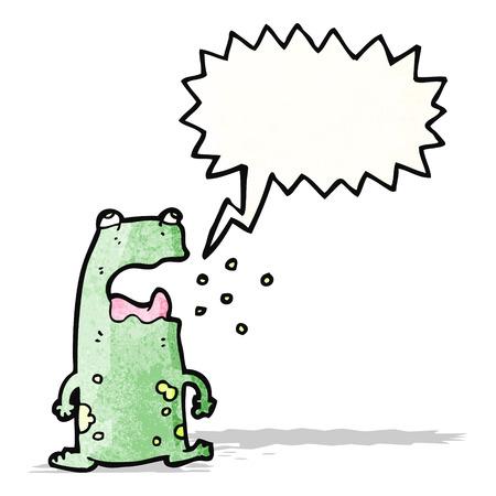 cartoon burping frog Illustration