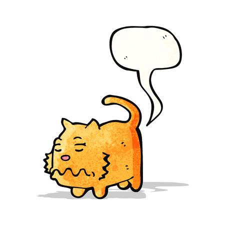 farting: cartoon farting cat Illustration