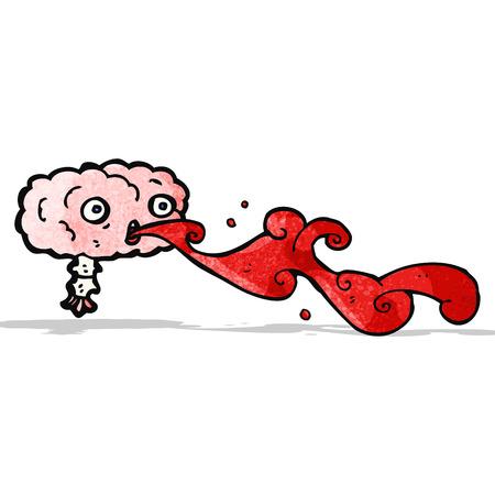 grosse: bande dessin�e bande dessin�e brute du cerveau