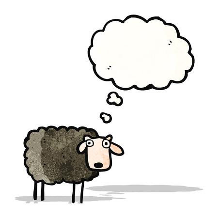 cartoon black sheep Vector