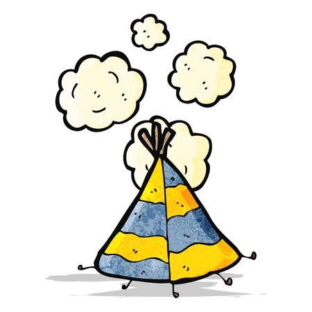 cartoon indian tent Vector