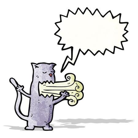 mal aliento: gato de dibujos animados con el mal aliento Vectores