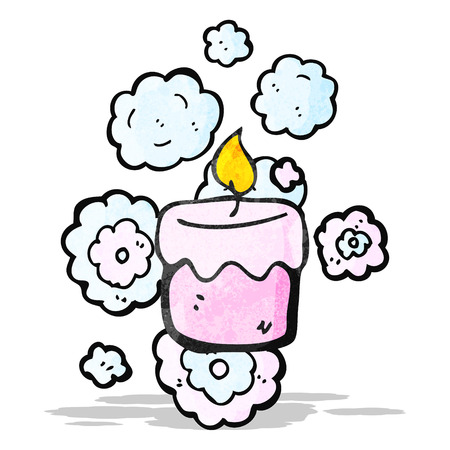 scented candle: scented candle cartoon Illustration