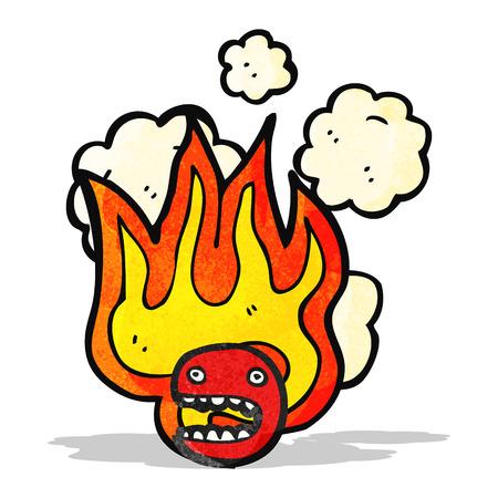 flaming: flaming emoticon face symbol Illustration