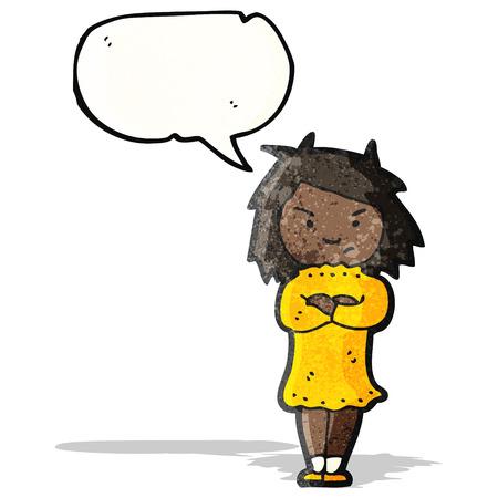 annoyed girl: annoyed girl cartoon Illustration