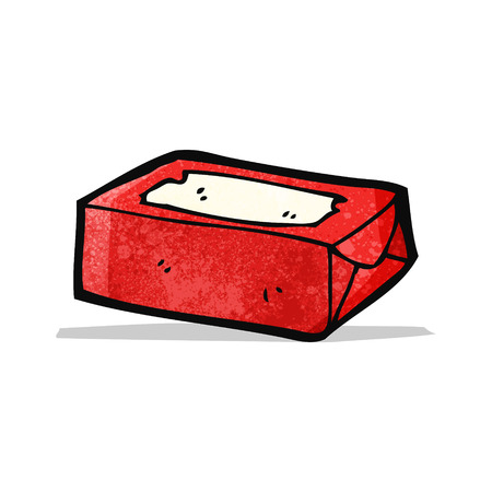 chew: chewing gum packet cartoon