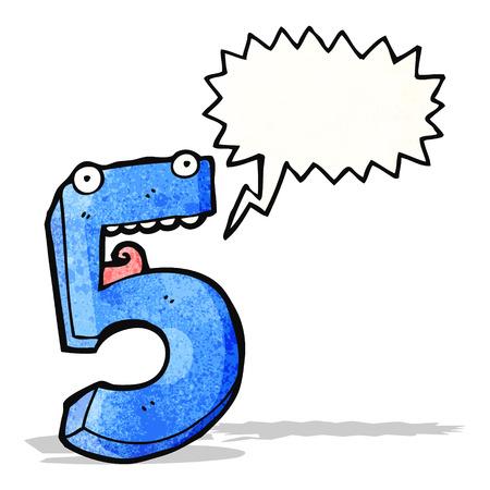 cartoon number five Vector