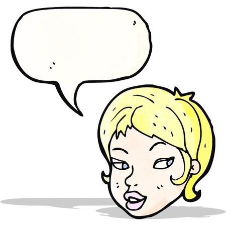 cartoon pretty blond girl Vector