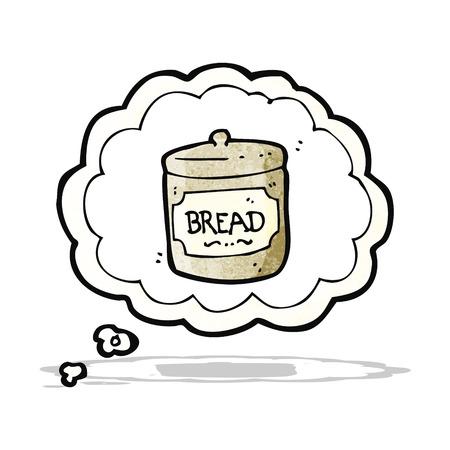 craving: cartoon dreaming of bread