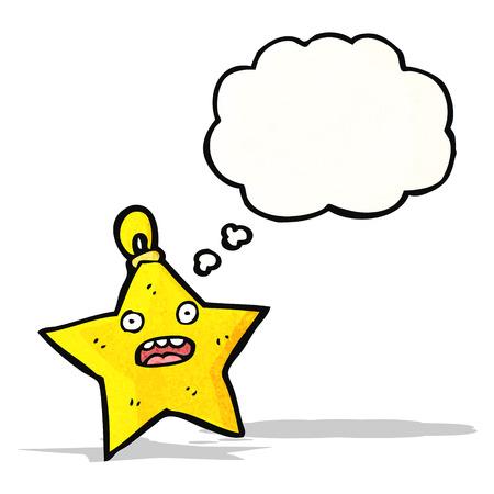 estrella caricatura: personaje de dibujos animados decoraci�n de la estrella