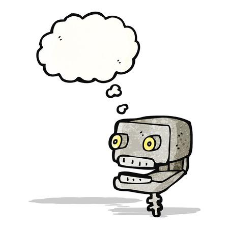 cartoon robot head Vector