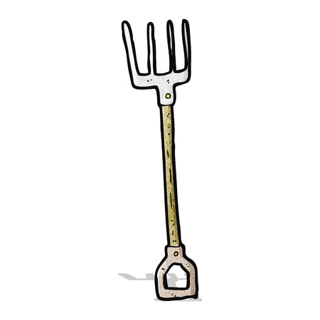 Garden Pitchfork Cartoon Royalty Free Cliparts Vectors And Stock