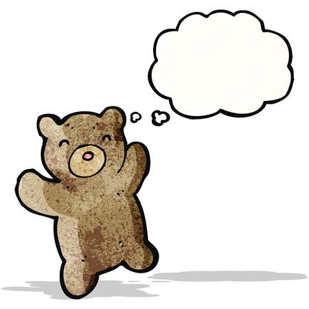 though: cartoon teddy bear Illustration