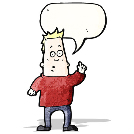 asking question: cartoon man asking question