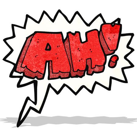 ah: cartoon comic book shout Illustration