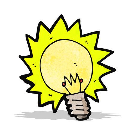 shining light: de dibujos animados brillante bombilla Vectores