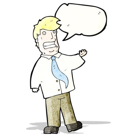 smilling: cartoon grinning salesman Illustration