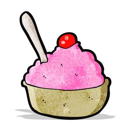 helado caricatura: dibujos animados taz�n de helado Vectores