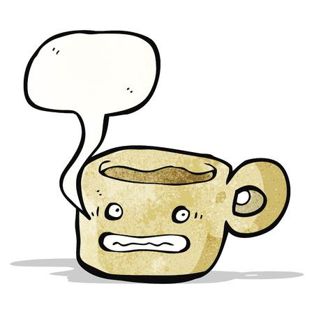 smilling: anxious coffee mug cartoon