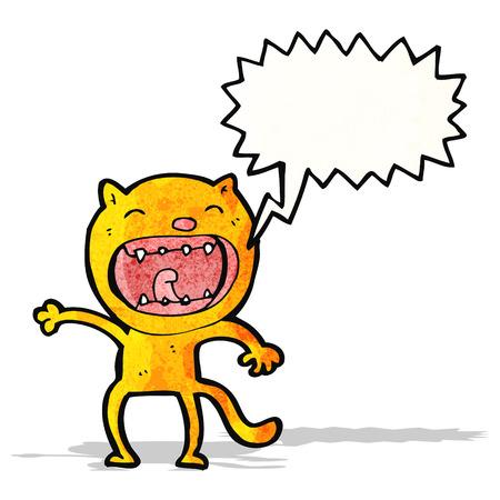 shrieking: shrieking cat cartoon Illustration