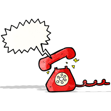 cartoon ringing telephone Vector