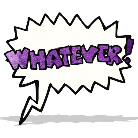 whatever: cartoon whatever shout Illustration