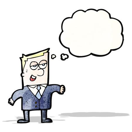 smug: cartoon smug businessman Illustration