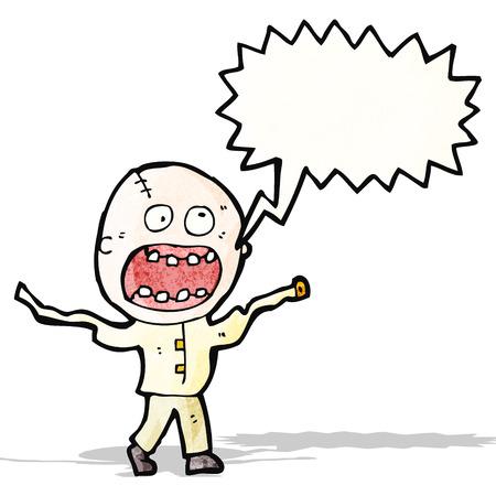 madman: gritando enojado hombre de la historieta