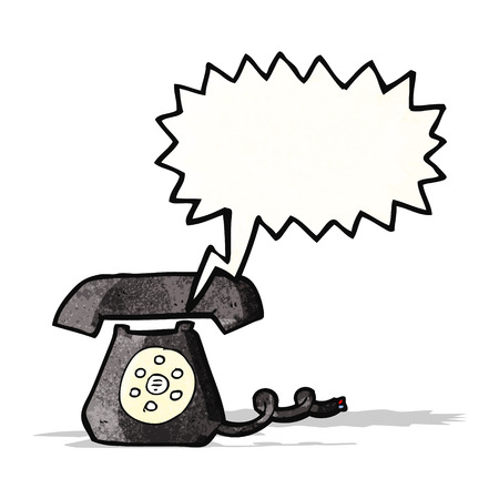 ringing telephone cartoon Vector