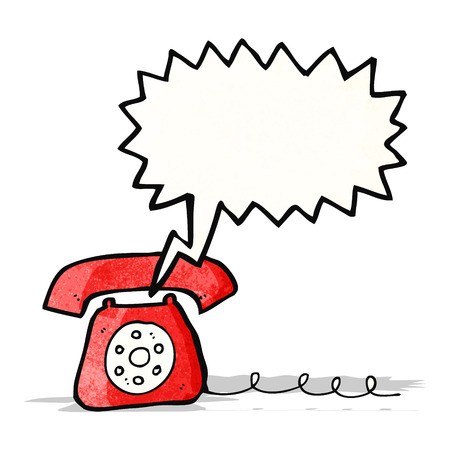 telephone cartoon: ringing telephone cartoon