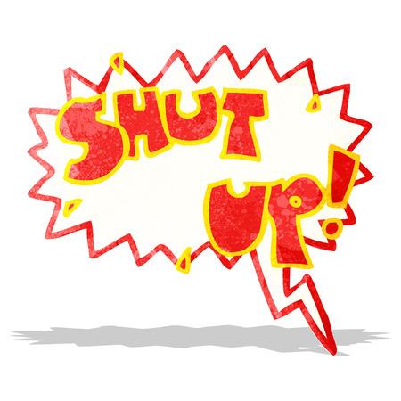 shut up: shut up cartoon shout Illustration