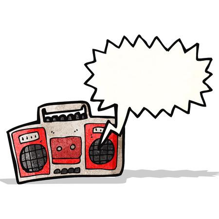 cartoon radio Иллюстрация
