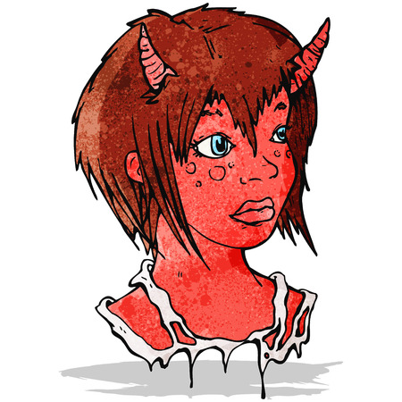 cartoon devil: cartoon devil girl