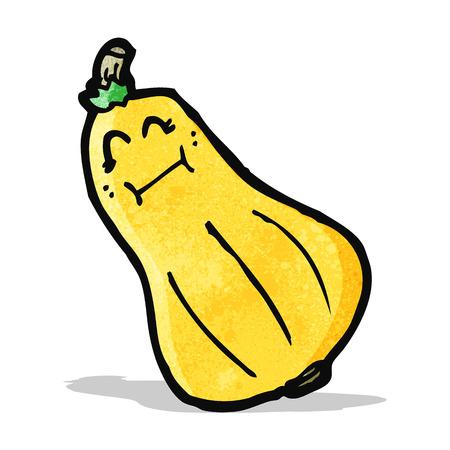 butternut squash: cartoon butternut squash