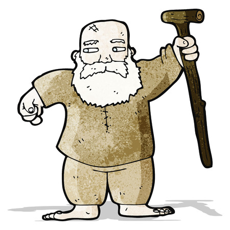 biblical: cartoon biblical style father man