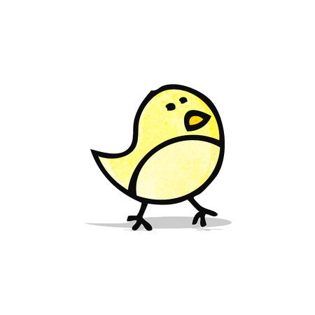 little bird: peque�a caricatura garabato p�jaro