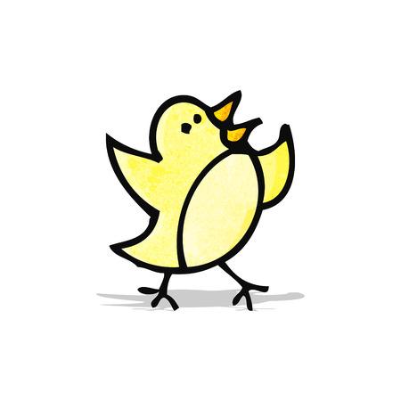 little bird: peque�a caricatura doodle de p�jaro