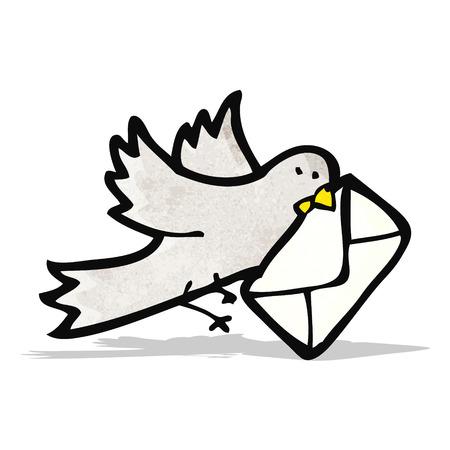 carrier pigeons: carrier pigeon cartoon Illustration