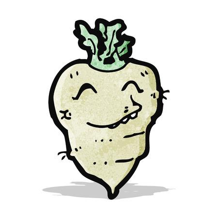 cartoon turnip Vector
