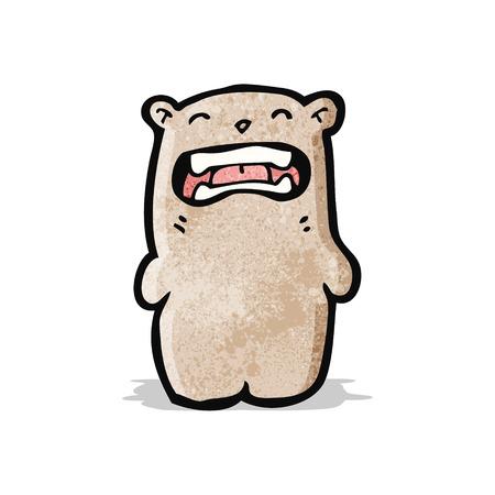 grosse: brute petite bande dessin�e de l'ours Illustration