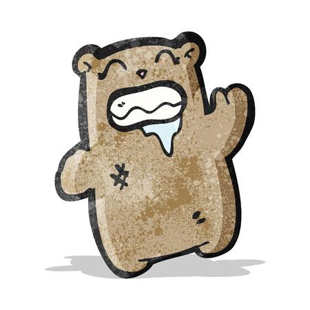 grosse: bande dessin�e brute ours agitant