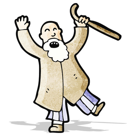 old man cartoon: angry old man cartoon