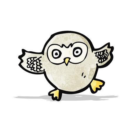 cartoon little owl Vector